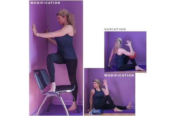 seated twist yoga pose modification