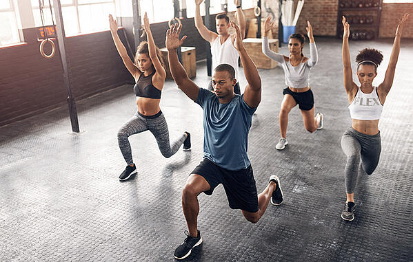 group fitness program in session